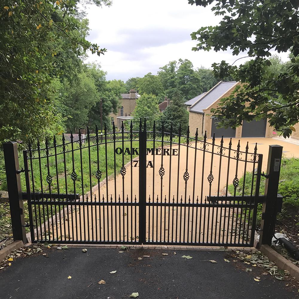 Wrought iron swing gates