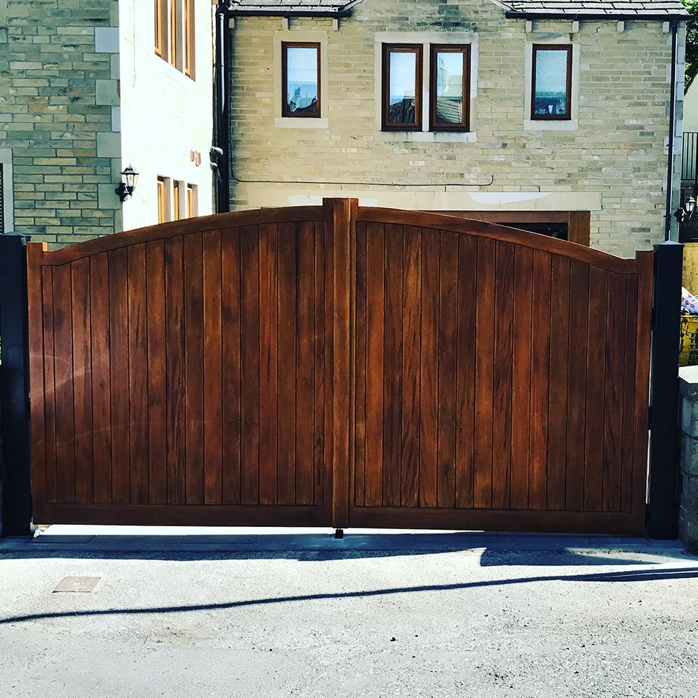 Hard wood timber swing gates